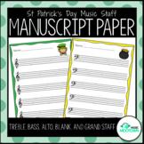 St. Patrick's Day Music Staff Manuscript Paper