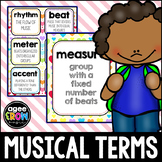 Valentine's Day Music Terms Flashcards, Posters, Centers,