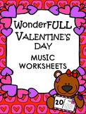 Valentine's Day Music Worksheets_NO PREP_Set of 20