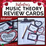 Valentines Day Music Worksheet w/100 Editable Task Cards &