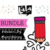 Valentine's Day Musical Coloring Sheet Bundle