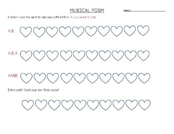 Valentine's Day Musical Form Fun!
