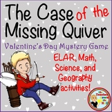 Valentine's Day Mystery Game - ELAR, Math, Science, and Geography Activities!