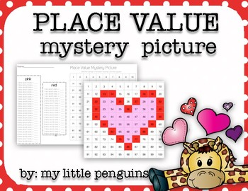 Valentine's Day Mystery Picture Place Value