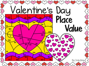 Valentine's Day Mystery Picture ~ Place Value ~ Valentine Heart