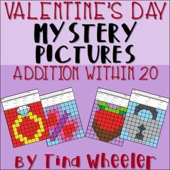 Valentine's Day Mystery Pictures Addition Within 20 ~ Fact Fluency