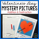 Mystery Pictures Valentine's Day - Addition and Subtraction Facts