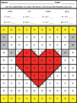 Valentine's Day Mystery Pictures Addition and Subtraction Within 20