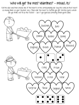 Valentine's Day NO PREP Articulation Activities! Just Print and Use!