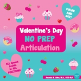 Valentine's Day NO PREP Articulation Say and Color Activit