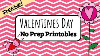 Valentines Day NO PREP ELA & Math Freebie