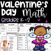 Valentine's Day NO PREP Math Activities Grades K-2