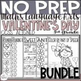 Valentine's Day NO PREP Math and ELA
