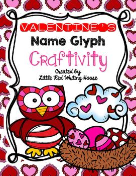 Valentine's Day Name Glyph Craftivity