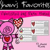 Valentine's Day Name Plates