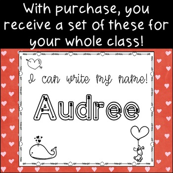 Valentine's Day Name Writing Practice Custom Order
