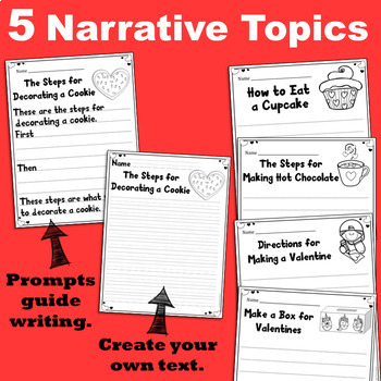 Valentine's Day Narrative and Opinion Writing Activities