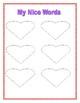 Valentine's Day Nice Words Writing Activity