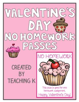 Valentine's Day No Homework Passes
