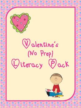 Valentine's Day No Prep Literacy Pack