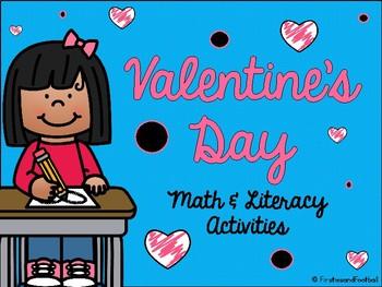 Valentine's Day No Prep Math & Literacy Activities