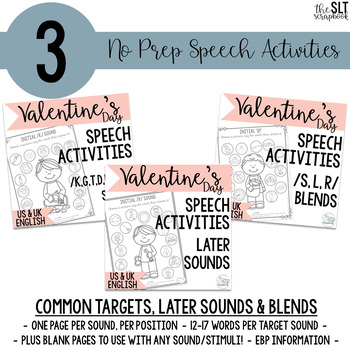 Valentine's Day No Prep Speech and Language Bundle
