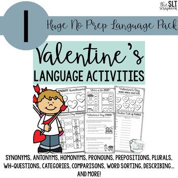 Valentine's Day No Prep Speech and Language Bundle