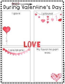 Valentine's Day NO PREP Writing Activity