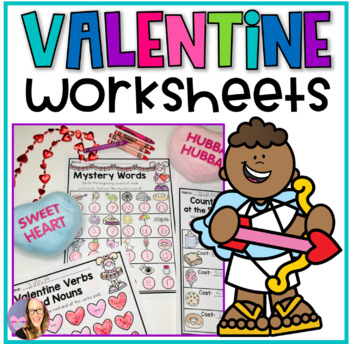 Valentine's Day No Prep Math and Reading Worksheets