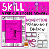 Valentine's Day Nonfiction Skill Swirl Fact Cards and Writing