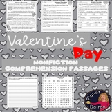 Valentine's Day Nonfiction reading Differentiated comprehension & writing prompt