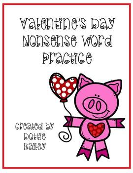 Valentine's Day Nonsense Word Practice