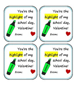 Valentine's Day Notes and Tags - School Themed