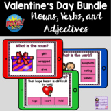 Valentine's Day Nouns Verbs and Adjectives Boom Card Bundle