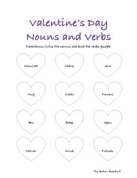 Valentine's Day Nouns and Verbs