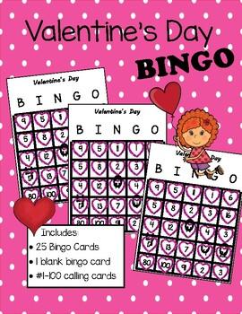 Valentine's Day Number Bingo