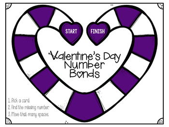 Valentine's Day Number Bonds