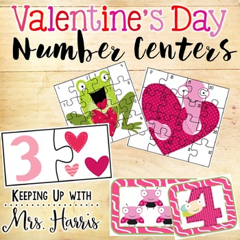 Valentine's Day Number Centers