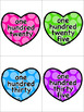 Valentine's Day Number & Color Word Flashcards