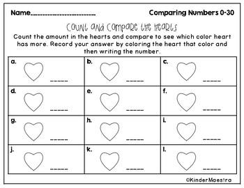 Valentine's Day Number Comparison