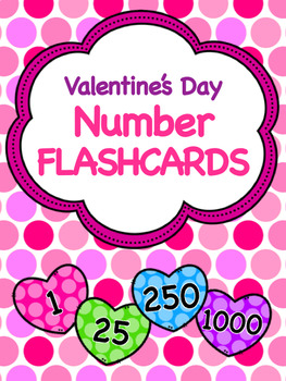 Valentine's Day Number Flashcards
