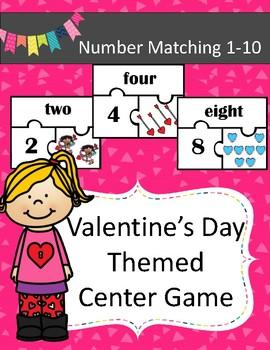 Valentine's Day Number Match 1-10