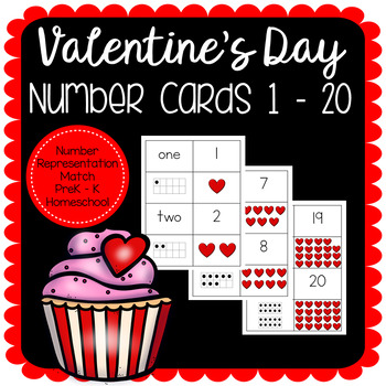 Valentine's Day Number Match Cards