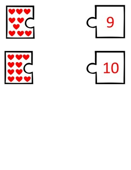 Valentine's Day Number Matching Activity