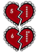 Valentine's Day Number Matching Game