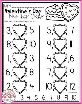 Valentine's Day Number Order 1-20