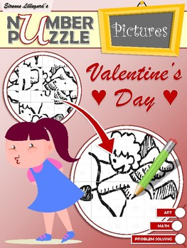 Valentine's Day Number Puzzle Pictures