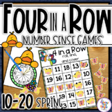 Spring Number Sense Games - 4 In a Row Game boards numbers 10-20