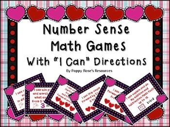 Valentine's Day Number Sense Math Games