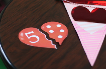 Valentine's Day-Number and Counting Heart Matching Activity